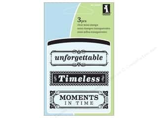 Stamps $2 - $4: Inkadinkado InkadinkaClings Clear Stamp Mini Timeless Phrases