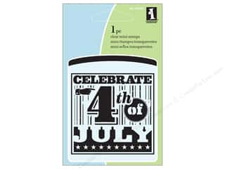 Scrapbooking & Paper Crafts  Stamps  Rubber Stamp: Inkadinkado Clear Stamp Mini 4th Of July