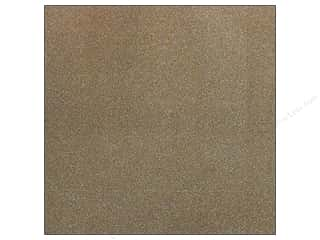 American Crafts 12 x 12 in. Paper Pow Glitter Solid Rocky Road (20 sheets)