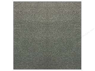 American Crafts Sheets: American Crafts 12 x 12 in. Paper Pow Glitter Solid Charcoal (15 sheets)