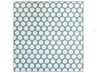 American Crafts 12 x 12 in. Paper Pow Glitter Medium Dot Marine (20 sheets)