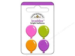 Doodlebug Brads Braddies Balloon Bright