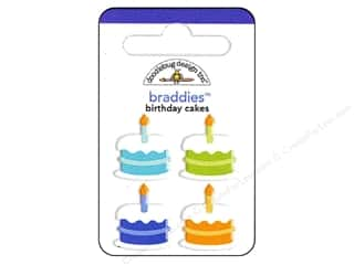 Doodlebug Brads Braddies Sweet Cakes Primary