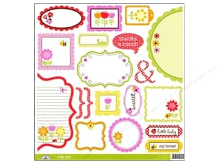 Doodlebug Cute Cuts Die Cut Ladybug Garden (12 sheets)