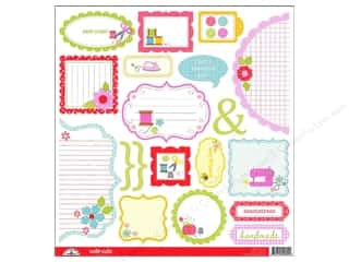 Notions: Doodlebug Cute Cuts Die Cut Nifty Notions (12 sheets)