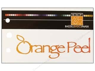 Orange Peel Bazzill Cardstock: Bazzill Swatch Book Orange Peel
