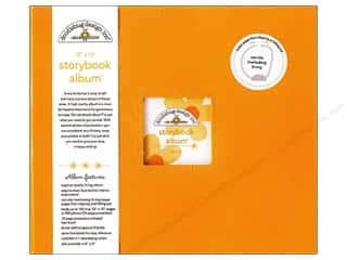 "Scrapbook / Photo Albums Animals: Doodlebug Album Storybook 12""x 12"" Tangerine"