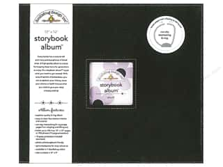 "Scrapbook / Photo Albums Burgundy: Doodlebug Album Storybook 12""x 12"" Beetle Black"