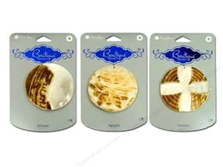 Blue Moon Pendants Boutique Select Shell Etched Brown Assorted