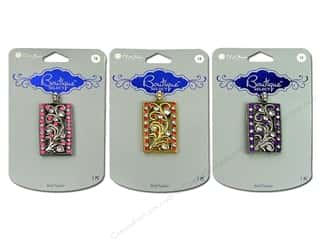 Blue Moon Pendants Boutique Select Metal/Acrylic Rectangle Antique Silver