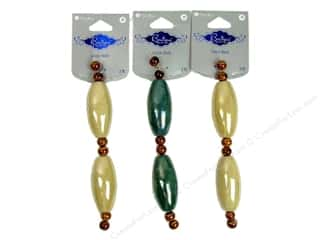 Blue Moon Beads BS Ceramic Large Long Oval Astd