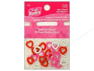 Bates Stitch Marker Heart Shaped Size 0-8