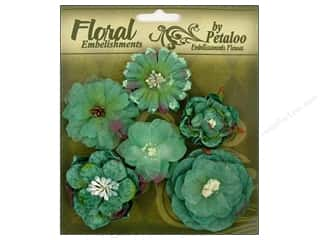 Petaloo FloraDoodles Chantilly Mixed Blooms Blue