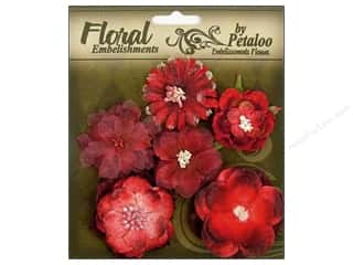 Brandtastic Sale Petaloo: Petaloo FloraDoodles Chantilly Mixed Blooms Red