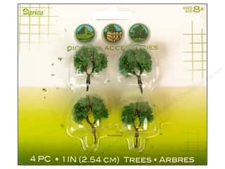Darice Diorama Tree with Powder 1&quot; 4pc