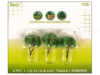 Darice Diorama Tree with Powder 1.5&quot; 3pc