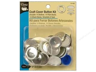 Sewing & Quilting Buttons: Cover Button Kit by Dritz Craft 7/8 in. 14 pc.