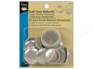 Buckles Bulk & Cover Buttons: Cover Button Kit by Dritz Craft 1 1/8 in. 10 pc.