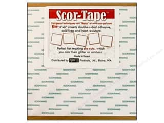 "Scor Pal Scor Tape Dbl Side Adhesive Sht 6x6"" 5pc"