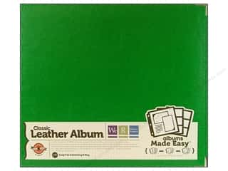Clover: We R Memory Album 12x12 Leather Ring Clover