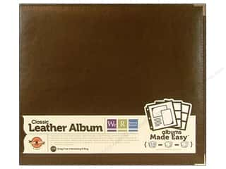 We R Memory Album 12x12 Leather Ring Dark Chocolate