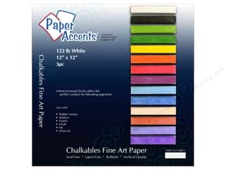 Clearance ColorBox Fluid Chalk Ink Pad Queues: Cardstock 12 x 12 in. Chalkable White by Paper Accents