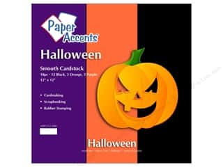 "Paper Accents Cardstock Variety Pack 12""x 12"" Halloween 18pc"