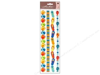 Border Stickers / Corner Stickers: EK Sticko Stickers Epoxy Border Summer Fun Ribbon