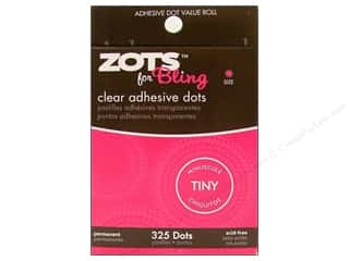 Fall Sale Glue Dots: Therm O Web Zots Clear Adhesive Dots 325 pc. 1/8 x 1/64 in. Bling Tiny