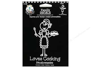 Rub-Ons Decals: Plaid Peeps Family Decals Loves Cooking Large