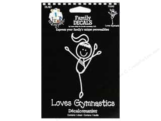 Plaid Peeps Family Decals Loves Gymnastics Lg