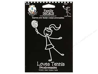 Plaid Peeps Family Decals Loves Tennis Lg