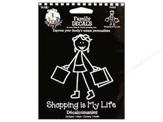 Craft & Hobbies Family: Plaid Peeps Family Decals Shopping is My Life Large