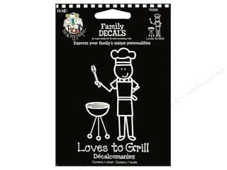 Everything You Love Sale: Plaid Peeps Family Decals Loves to Grill Lg