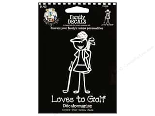 Plaid Peeps Family Decals Loves to Golf Girl Lg