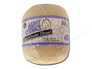 Aunt Lydia's Cotton Crochet Thread Size 10 Natural 1000 yd.