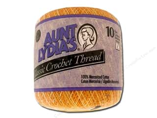 Aunt Lydia's Classic Crochet Thread Size 10 Dk. Shaded Yellows