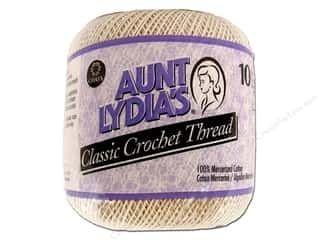 Warm and Natural Home Decor: Aunt Lydia's Classic Cotton Crochet Thread Size 10 Natural