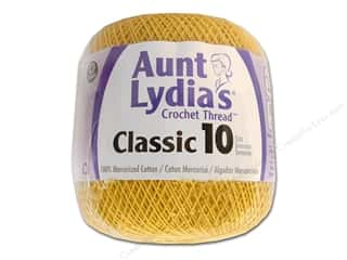 Aunt Lydia's Classic Crochet Thread Size 10 Golden Yellow