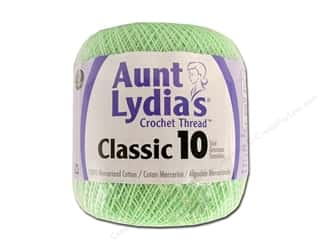 Aunt Lydia's Classic Cotton Crochet Thread Size 10 350 yd. Mint Green