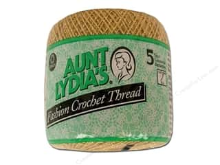 Aunt Lydia's Fashion Crochet Metallics Size 5 Gold