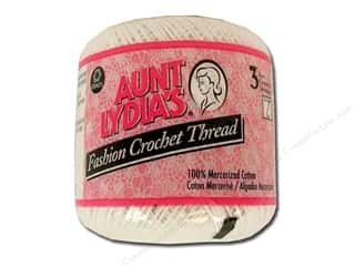 Pearl Cotton $21 - $23: Aunt Lydia's Fashion Crochet Thread Size 3 #201 White