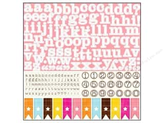 "Echo Park Paper Company Alphabet Stickers: Echo Park Sticker 12""x 12"" Dots & Stripes Candy Shoppe Alphabet (15 sheets)"