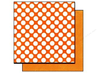 Echo Park Paper 12x12 Dots &amp; Stripes Candy Lg Mngo (25 sheets)