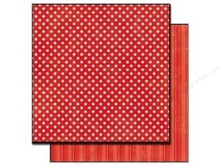 Echo Park Paper 12x12 Dots &amp; Stripes Met Sm Red (25 sheets)
