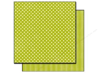 Echo Park Paper 12x12 Dots &amp; Stripes Met Sm Leaf (25 sheets)