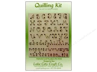 Lake City Crafts Quilling Kit Alphabet &amp; Numbers