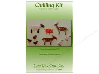 Lake City Crafts Quilling Kit Farm Animals