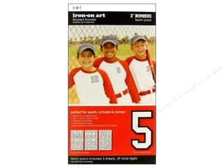 "SEI Iron On Numbers Athletic Team Pack 3"" White"