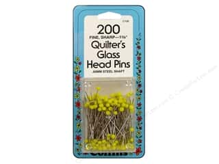 Quilter's Glass Head Pins by Collins 1 3/8 in. 200 pc.